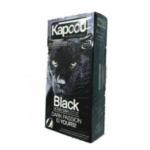 کاندوم کاپوت مدل Black Ultra Safe بسته 12 عددی