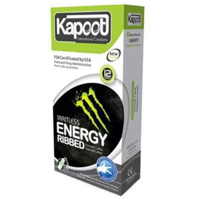 کاندوم کاپوت مدل انرژی زا energy and ribbed بسته 12 عددی