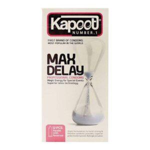 کاندوم کاپوت مدل Max Delay بسته 12 عددی
